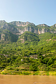 View of the landscape in the Wu Gorge (Three Gorges), Yangtze River, China.