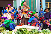 Flower Hmong tribes people at market, Bac Ha, Lao Cai province, Vietnam.