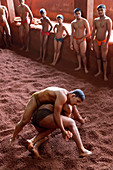 Kushti, traditional Indian wrestling, wrestlers training, Kolhapur, Maharashtra, India