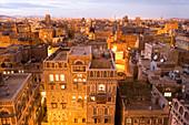 Cityscape of Sana'a, Yemen