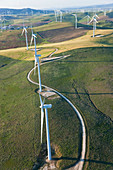 Aerial view of wind turbines Huelva Province, Spain