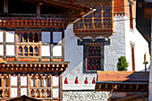 Monks, Tongsa Dzong, Buddhist monastery and fortress, in Tongsa, Bhutan