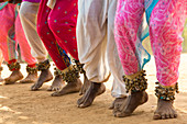 Feet of dancers from Maharashtra State, India