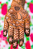 Henna art on hands, Rajasthan, India
