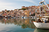 View of a harbour in Sciacca, Sicily, Italy