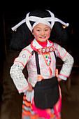Portrait of a Long Horn Miao girl, Sugao, Guizhou Province, China