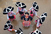 Girls of Long Horn Miao tribe dancing, Sugao, Guizhou Province, China