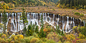Nuorilang Waterfall. Jiuzhaigou National Park, Sichuan Province. China