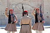 Changing of the Guard, Evzone Guards, Syntagma Square Athens Greece