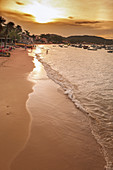 Armação Beach in Buzios.\n\nArmação dos Búzios , often referred to as just Búzios, is a resort town and a municipality located in the state of Rio de Janeiro, Brazil. In 2012, its population consisted of 23,463 inhabitants and its area of 69 km². Today, Búzios is a popular getaway from the city and a worldwide tourist site, especially among Brazilians and Argentinians.\n\nIn the early 1900s Búzios was an almost unkown village of fishermen. It remained as such until 1964, when the French actress Brigitte Bardot visited Búzios, since then Búzios became popular with the Carioca's high society, who wa