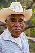 Portrait of a Mexican man (elder) in the Mixtec village of San Juan Contreras near Oaxaca, Mexico.