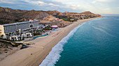 Aerial view of the coastline of Cabo San Lucas on the Baja California peninsula in northern Mexico