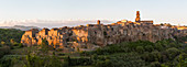 Town of Pitigliano in Tuscany, Italy