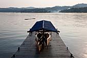 Pier at Khao Laem reservoir, Sangkhla Buri, Thailand