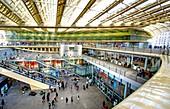 Forum des Halles (150 shops and 17 restaurants) Paris, France. Rebuilt with new canopy (Parick Berger and Jacques Anziutti) April 2016