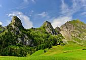 Wunderschönes Bergpanorama in den Alpen, am Gitschenen, Isenthal, Kanton Uri, Schweiz