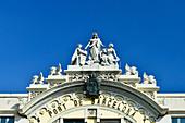 Ornate entrance of the Port of Barcelona at the marina, Barcelona, Catalonia, Spain