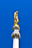 The monument of the golden statue of Saint Mary, Zagreb, Croatia