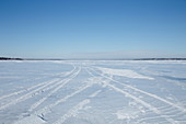 Saint Lawrence River in winter, Quebc, Canada