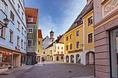 Kalchstrasse on the market square in Memmingen, Bavaria, Germany