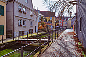 Obere Bachgasse and Memminger Ach in Memmingen, Bavaria, Germany
