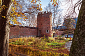 Swallowtail tower and city wall in Memmingen, Bavaria, Germany