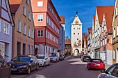 Ulmer Tor in Memmingen, Bayern, Deutschland