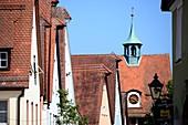 in Hersbruck, Fachwerk, alte Häuser, Gasse, Häuserzeile, Dächer, Mittelfranken, Bayern, Deutschland