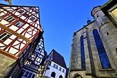An der Pfarrkirche St. Martin in der Altstadt von Forchheim, Oberfranken, Bayern, Deutschland