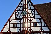 Am Marktplatz in der Altstadt von Forchheim, Fachwerkhaus, Oberfranken, Bayern, Deutschland