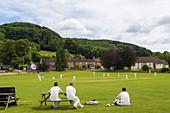 Village cricket, Stinchcombe, Gloucestershire, UK