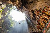 Hindu Shrine in Temple Cave at Batu Caves, Kuala Lumpur, Malaysia