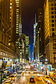 Avenue at dusk, central Manhattan, New York, USA