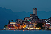 The famous silhouette of Malcesine and the Scaliger Castle.