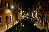 Nachts in Venedig, Venetien, Italien, Europa