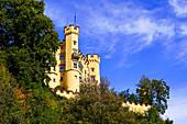 Hohenschwangau Castle, Füssen, Allgäu, Upper Bavaria, Bavaria, Germany