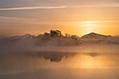 Sunrise at the Staffelsee, Uffing, Upper Bavaria, Bavaria, Germany, Europe