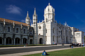 The ornate limestone facade of the Mosteiro dos Jeronimos. Another top attraction in Belem.