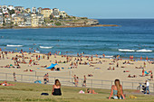 SYDNEY - FEB 17 2019:Bondi Beach in Sydney, New South Wales Australia. Bondi Beach is one of Australia's most iconic beaches.