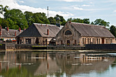 The royal forge of La Chaussade in Guerigny was built in1640 and is a listed historic monument, Nievres (58), Burgundy, France. Using hydraulic energy from the nearby river, anchors for the Navy were manufactured from 1872.
