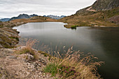 Besson lake (lac Besson) near the Alpe d'Huez resort, Isere (38), Auvergne-Rhone-Alpes region, France