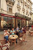 Slovakia, Bratislava, Old Town, street scene, cafe, people,