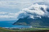 Cloud over Bolungarvik. Wesfjords,  Iceland