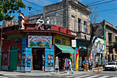 La Boca is a Buenos Aires neighborhood famed for its colorful houses and tango, a major tourist attraction in Buenos Aires, Argentina.