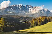 The Latemar group, Dolomites, Bolzano, italian Alps, South Tyrol, Italy