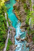 Tolmin gorges, Goriska Region, Soča valley, Triglav National Park, Slovenia, Europe