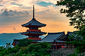 Sunset on Kiyomizu-dera Temple,Kyoto,Japan
