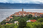historic town of Vrbnik, Krk island, Kvarner bay, Croatia