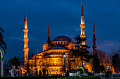 Blue Mosque by night,Istanbul, Turkey,Turkish