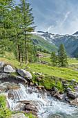 Selva dei Molini, province of Bolzano, South Tyrol, Italy, Europe. The Neves mountain hut